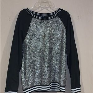 NWT sparkly long sleeve jersey like top
